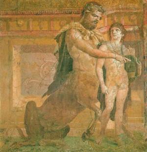 Chirone con Achille