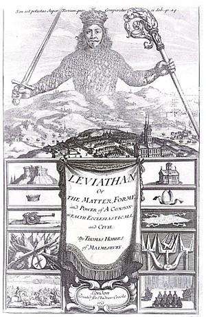 Copertina del Leviatano di Hobbes