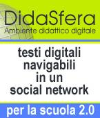 banner Didasfera, testi digitali per la scuola navigabili in un social network
