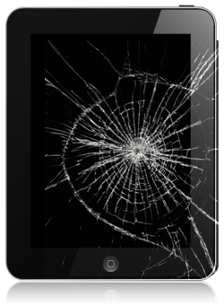 ipad con vetro rotto