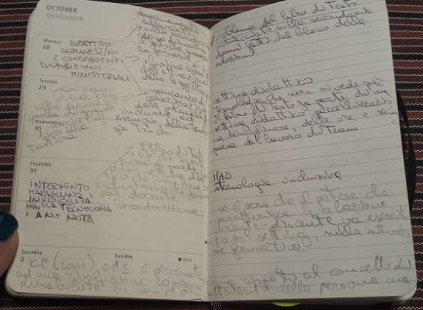 foto degli appunti presi durante il convegno