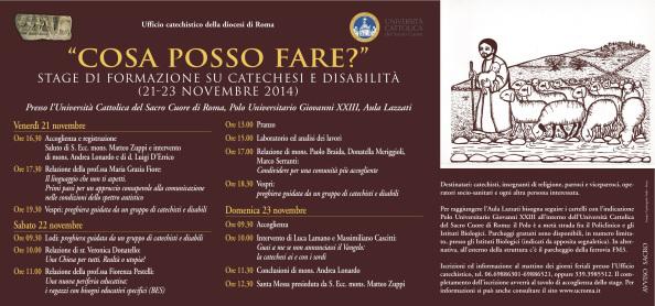 Diocesi di Roma ufficio catechistico locandina evento