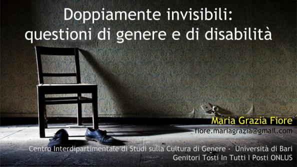 Doppiamente invisibili- questioni di genere e di disabilità